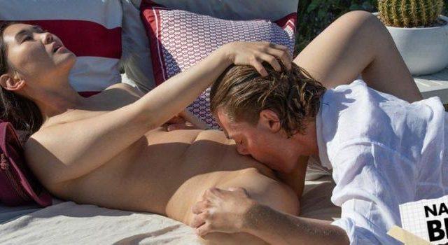 Lesbian pussy shaving